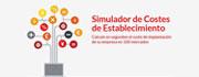 Simulador de costes de establecimiento de una empresa en el exterior